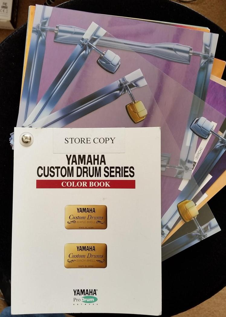 Yamaha Custom Drums Color Book
